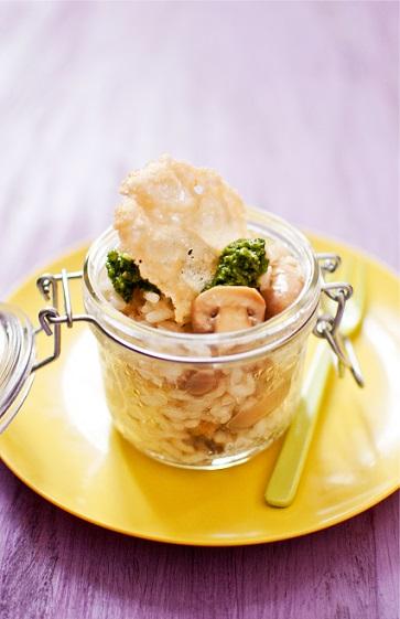 C'est un classique le risotto, alors pour réveiller vos invités, présentez-le dans un bocal individuel Le Parfait