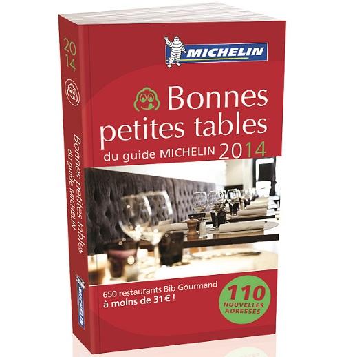 Les Bonnes petites tables michelin 2014