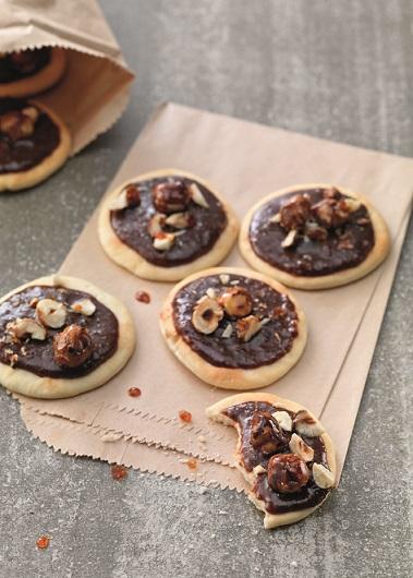Pizzettes chocolat et noisettes carame¦ülise¦ües
