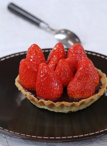 Tartelette choco fraise