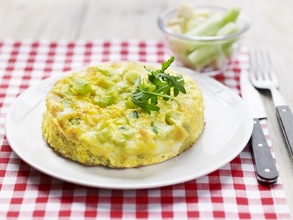 Omelette de concombre et tomme de Savoiee blog