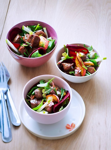 salade tiede au foie de veau BLOG