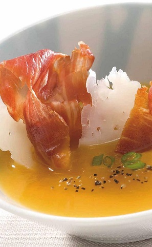 soupe potiron jambon