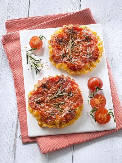 Tartelettes tatin tomates cerises et romarin