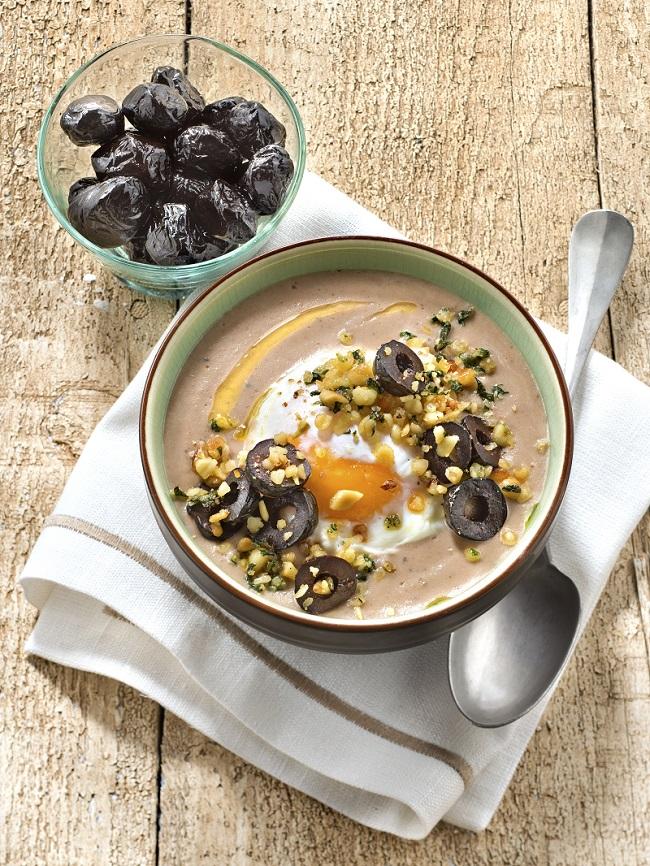 Soupe panais olives noires