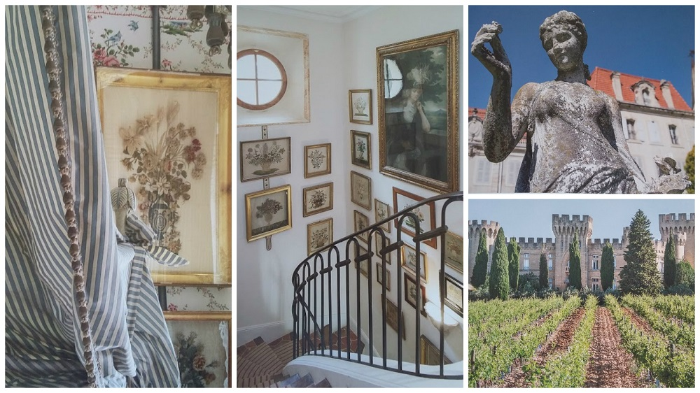 collage chateauneuf pape chene livre