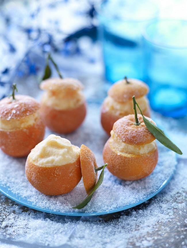 Clementines de Corse givrees