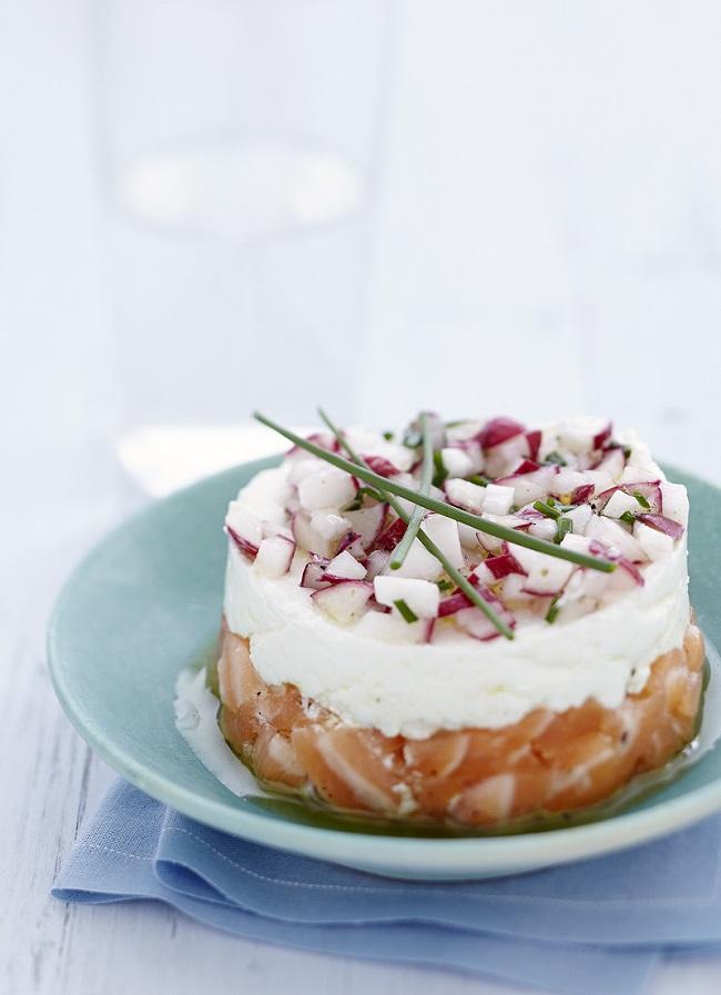 tartare de saumon frais radis