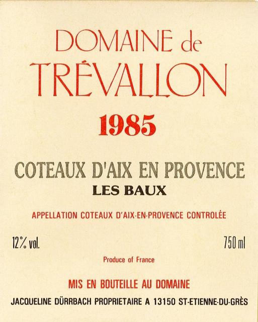 trevallon 1985