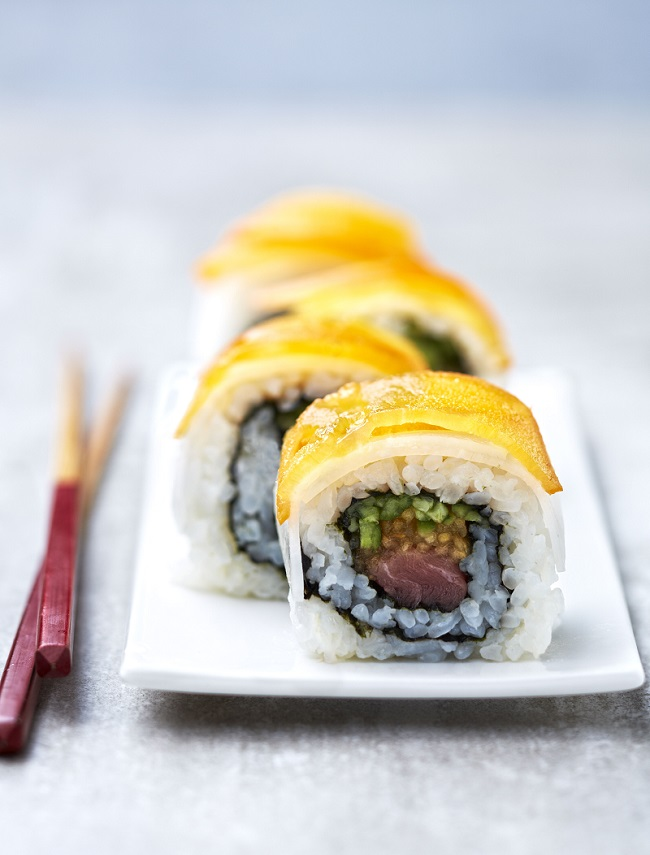 sushi de kaki