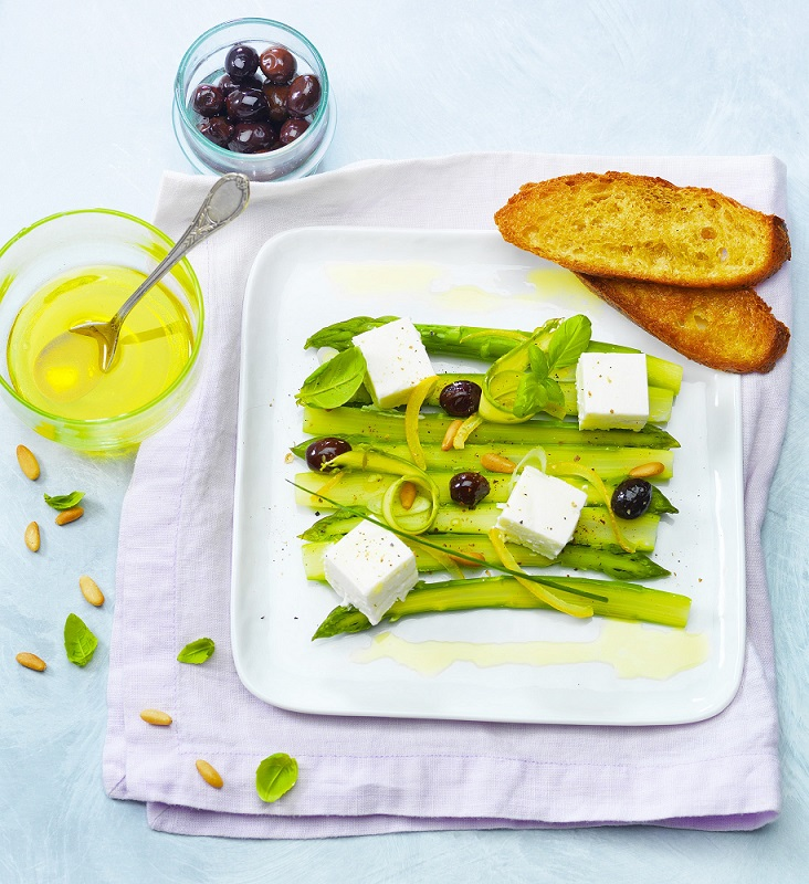 Asperges vertes olives et citron