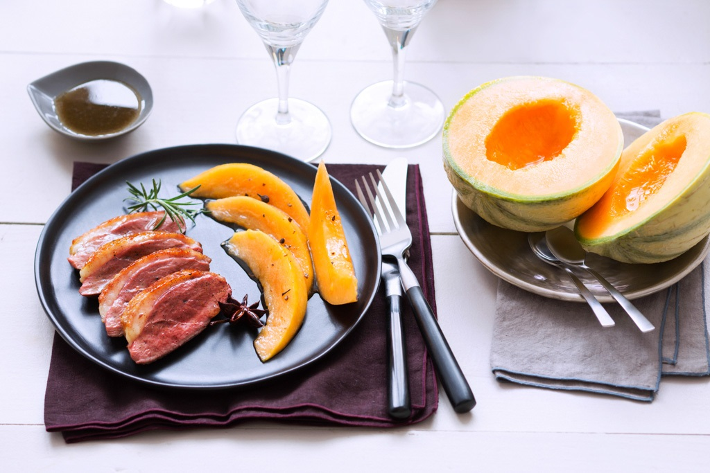 magret canard melon de Cavaillon Grand Pastis