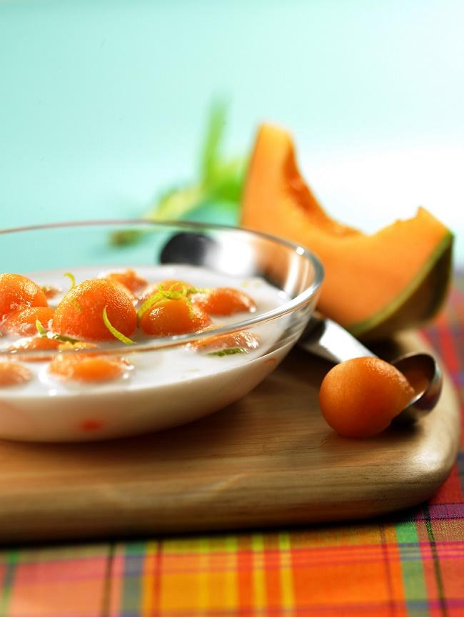 soupe de melon au lait de coco