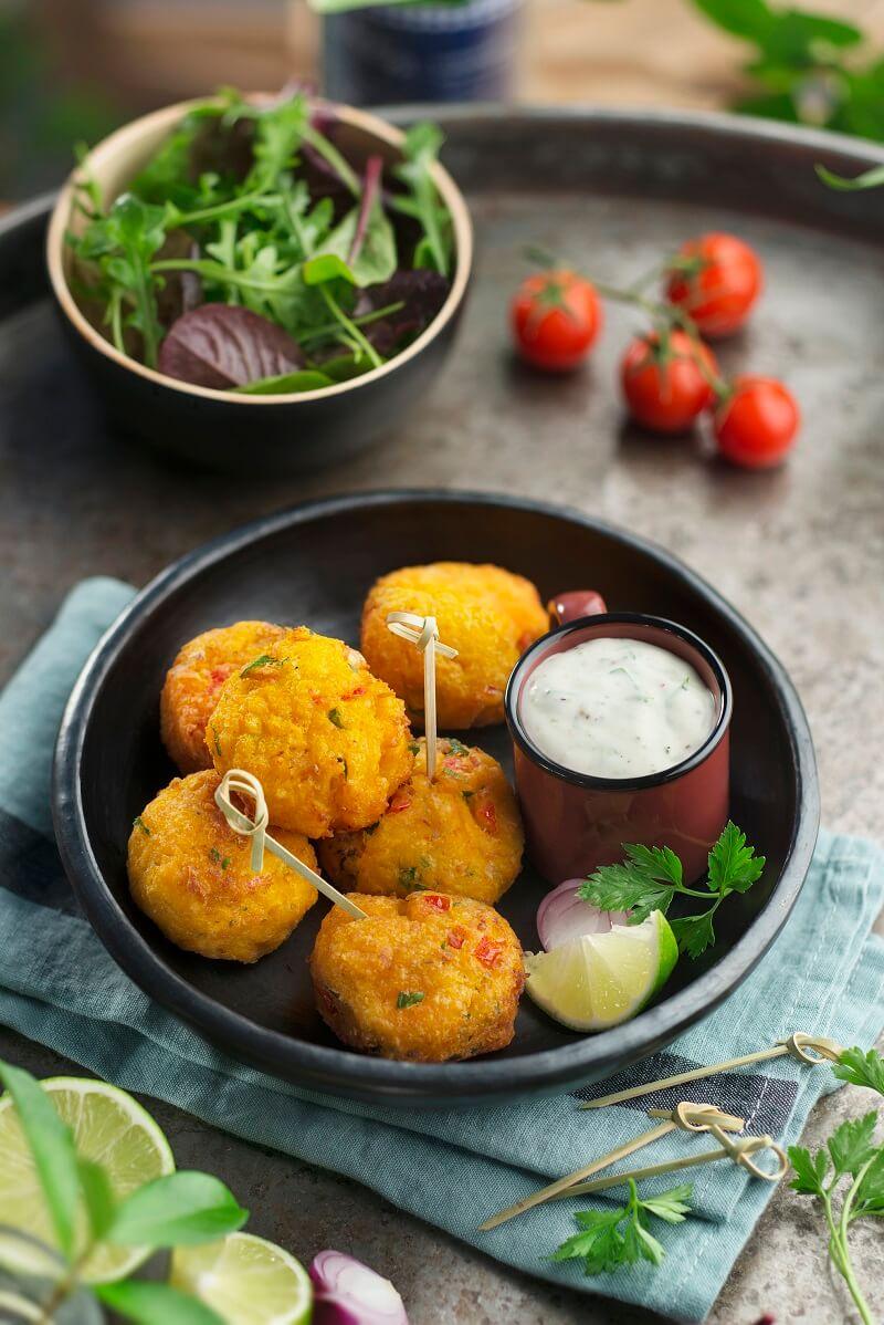 boulettes crevettes patate douce