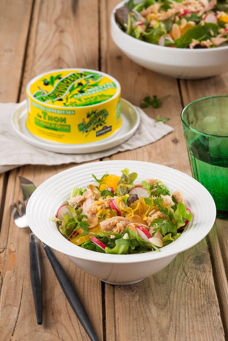 salade de miettes de thon