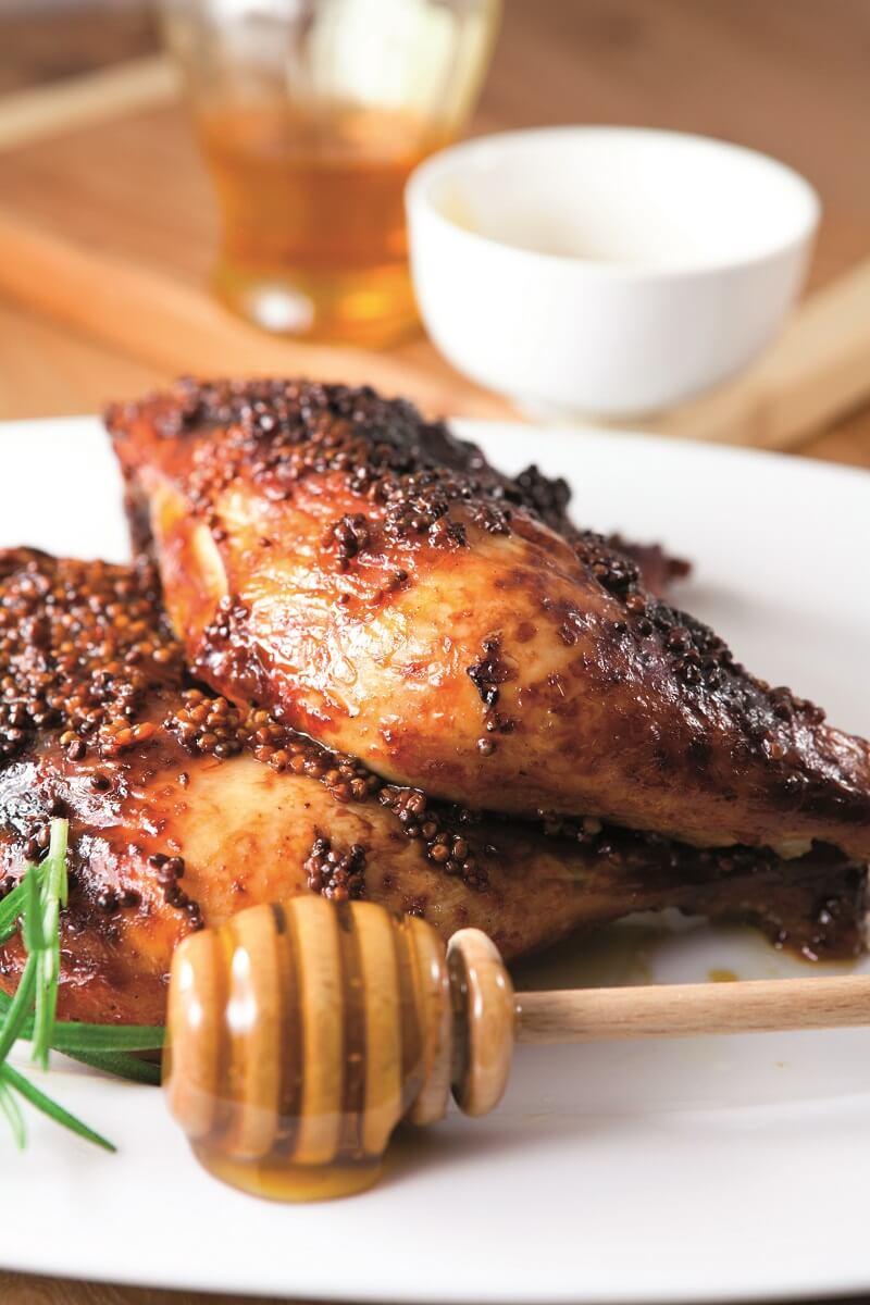 escalopes de poulet au miel
