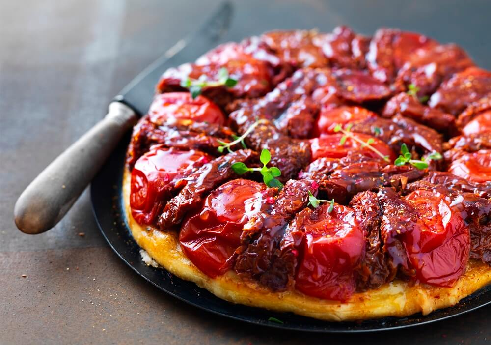 tatin de tomates confites
