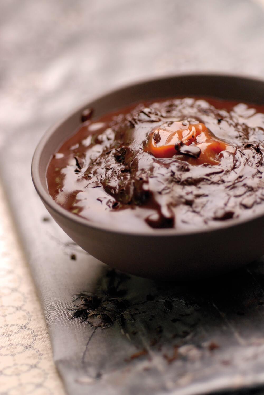 risotto chocolat et caramel