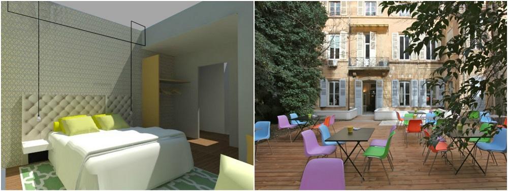 Deux h tels un restaurant un concept store et un jardin for Jardin montgrand