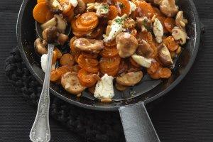 poêlée de carottes rôties