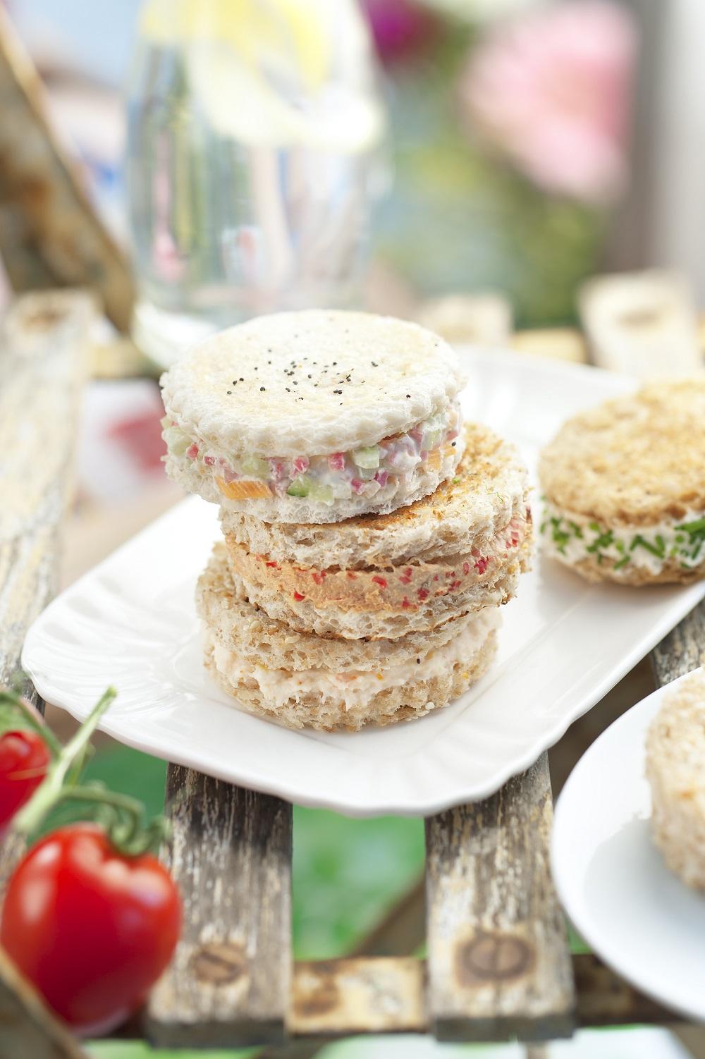 crème fraîche sandwiches