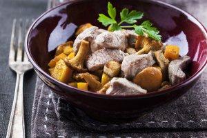 agneau-poêlée de champignons