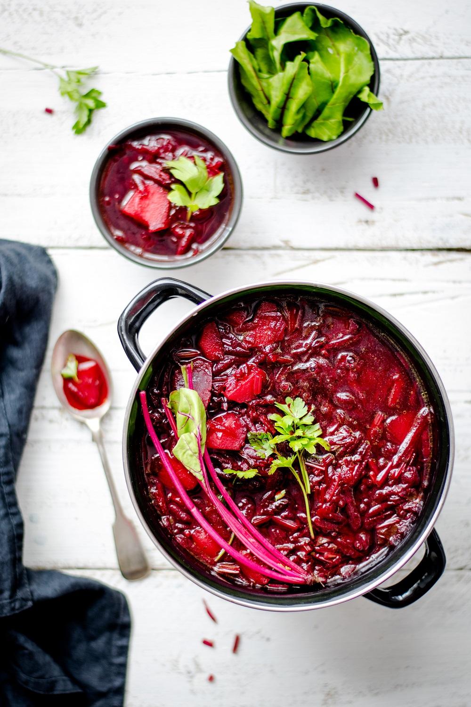 soupe froide de betteraves