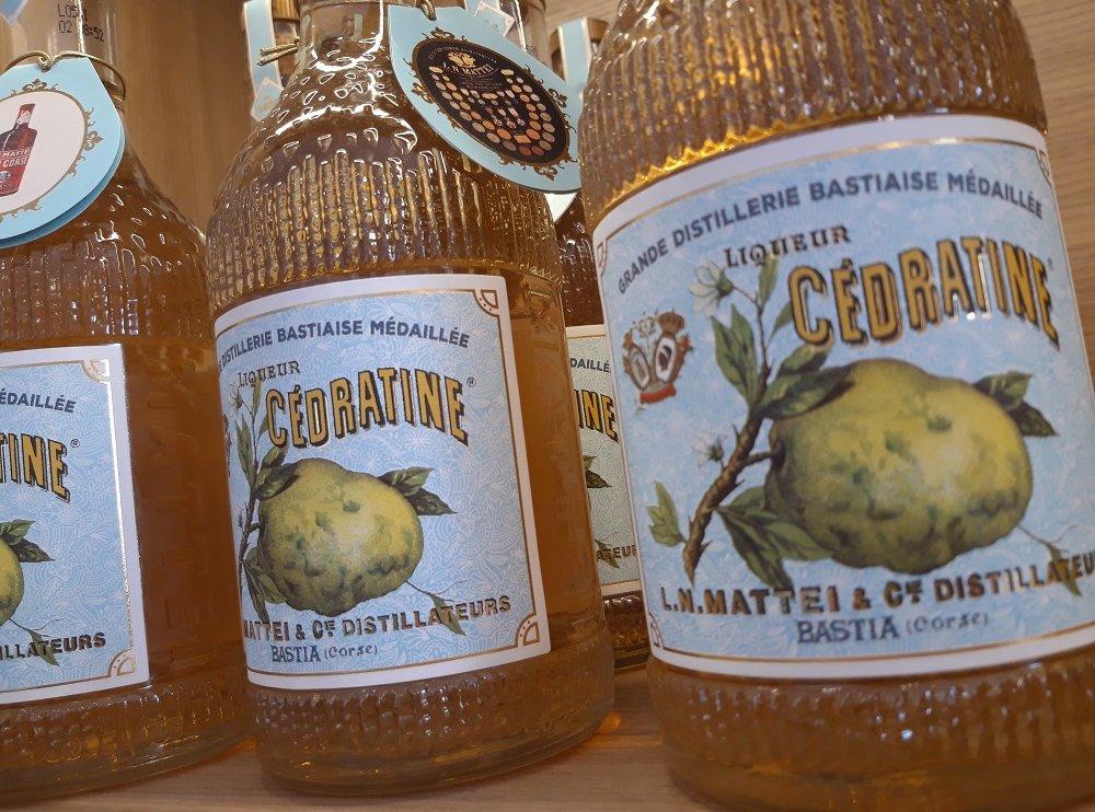 cédratine, liqueur de cédrat