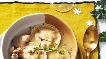 ravioles pleurotes et langoustines