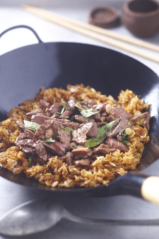riz frit au bœuf