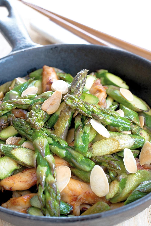 wok d'asperges vertes