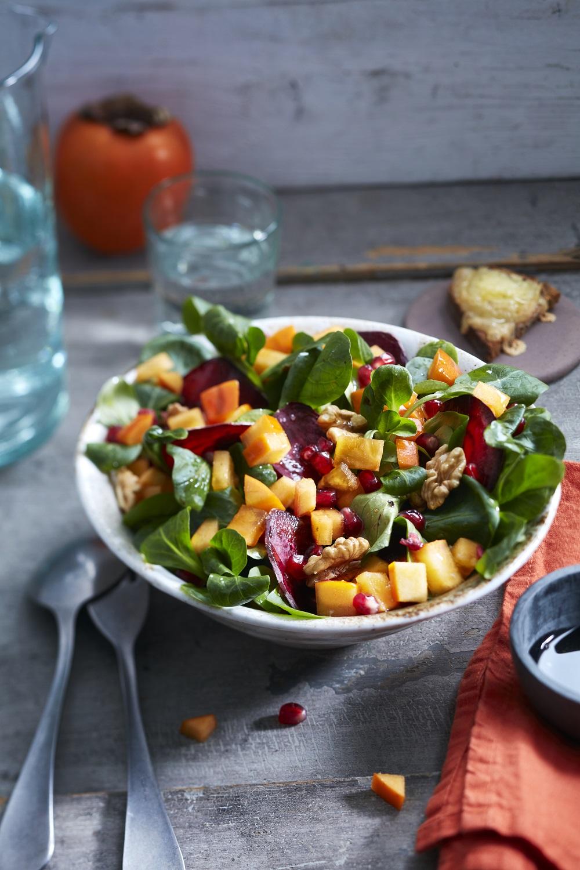 salade d'hiver aux kakis