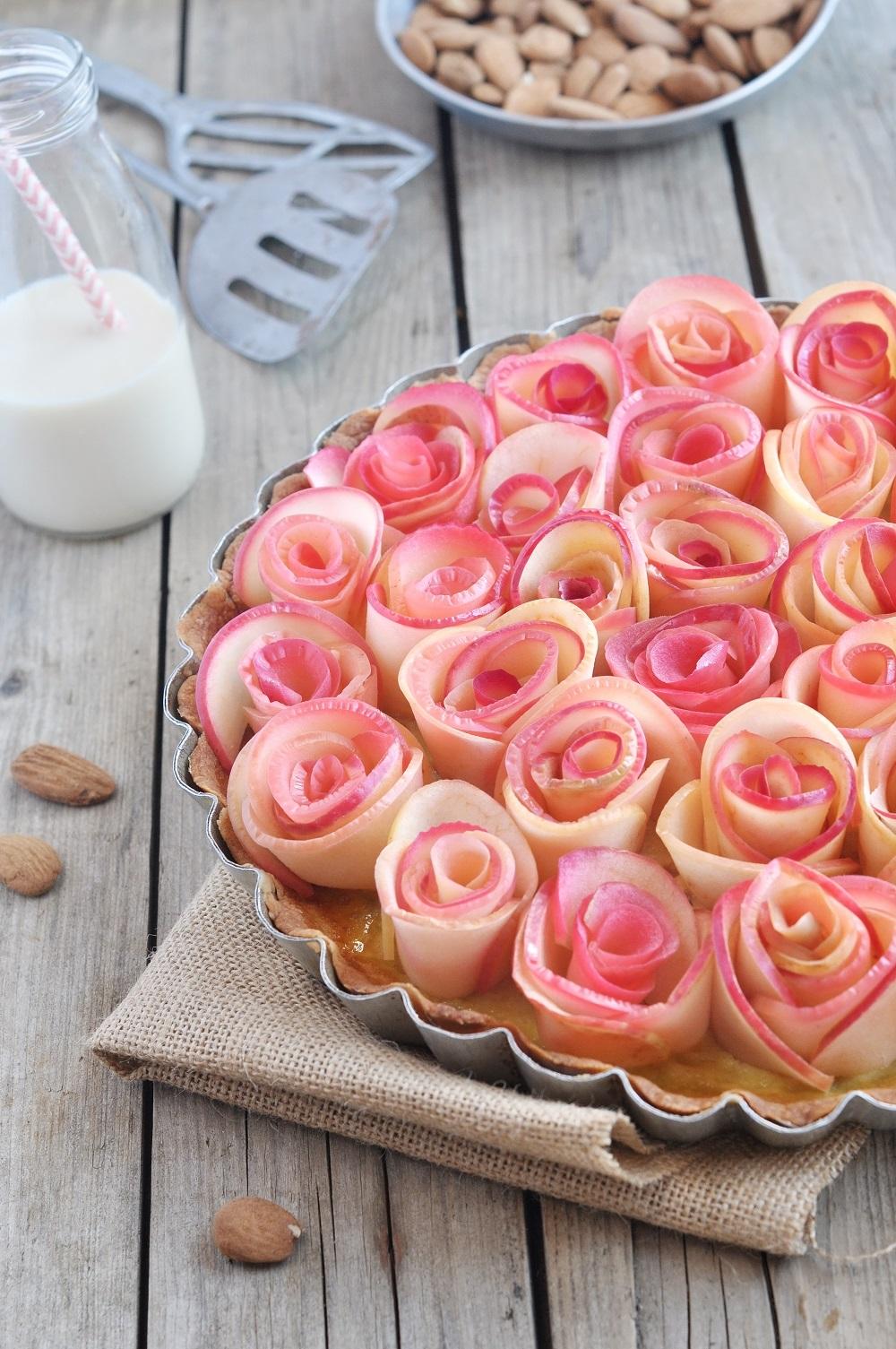 tarte bouquet de roses