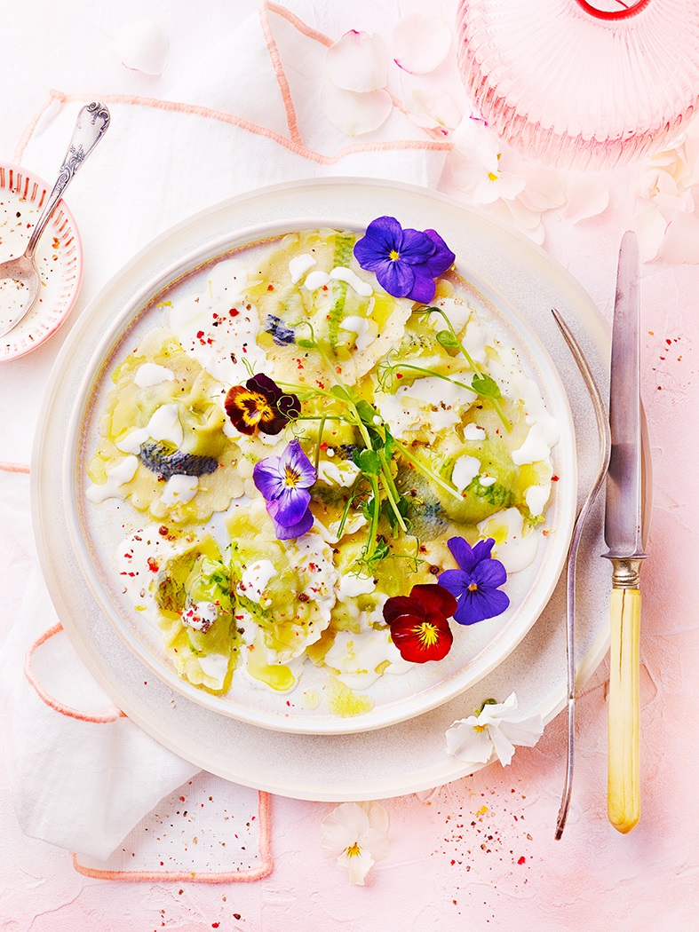 raviolis fleuris
