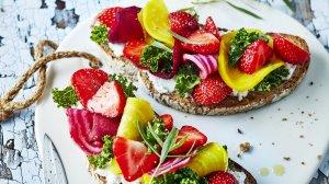 tartines aux fraises