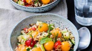 salade de quinoa au melon